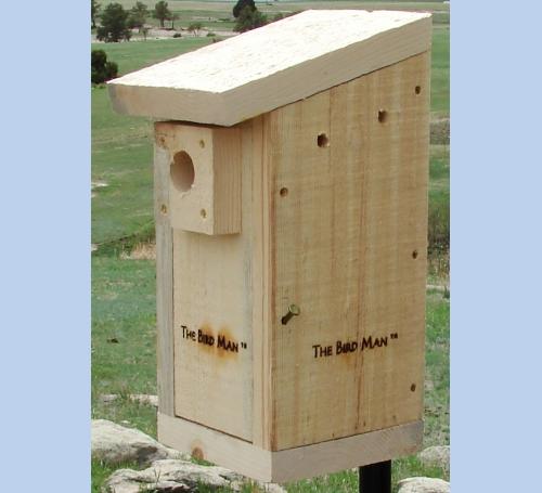 unfinished birdhouse