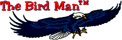 The Bird Man Sticky Logo