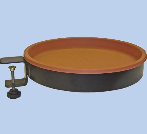 Simple Birdbath - Clamp On Terra Cotta